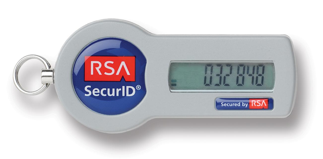 Токен в форме брелока для ключей RSA SecurID SID700. Имеется широкий