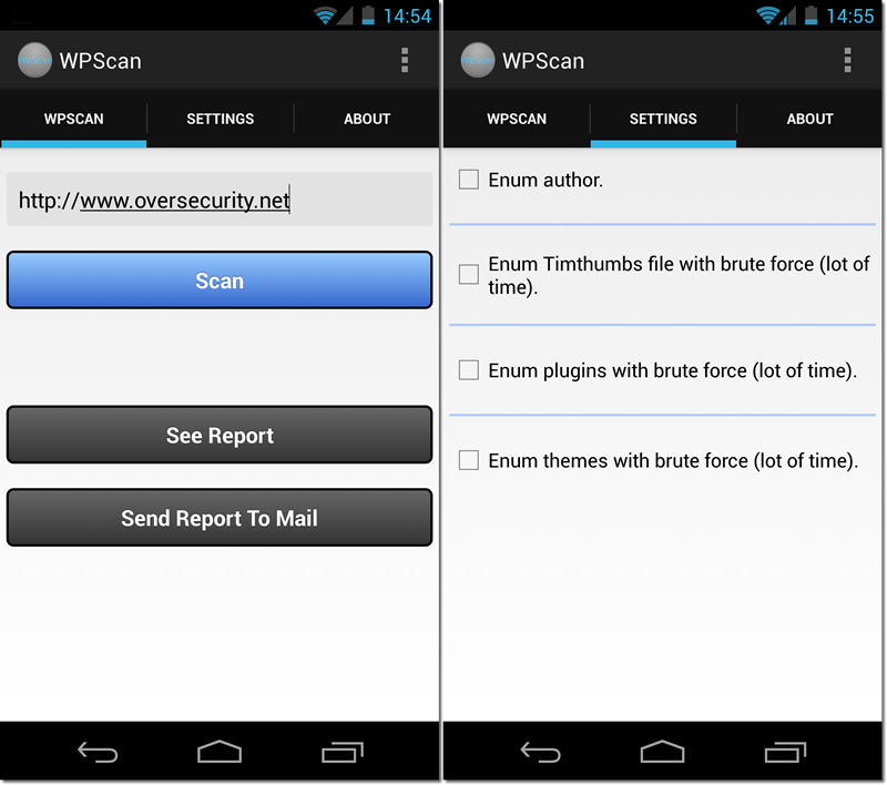 Wpscan Android 01 Wp Config Backup Txt