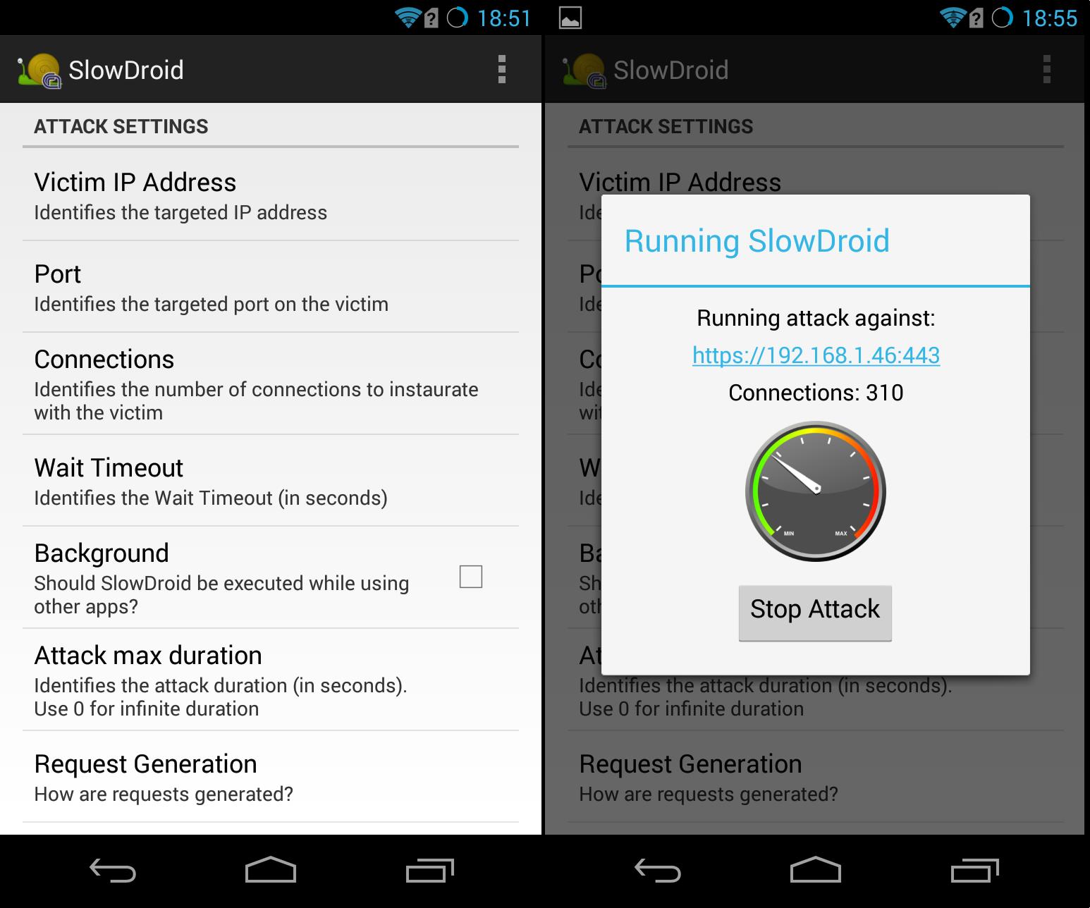 SlowDroid Screenshot