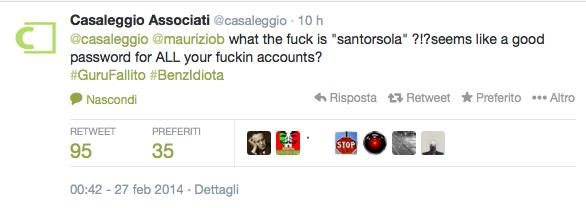 Password Casaleggio santorsola