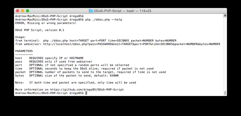 PHP DDoS Script