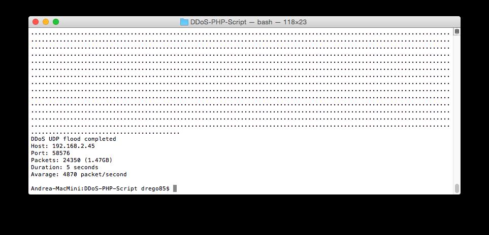 PHP DDoS Script UDP Flood