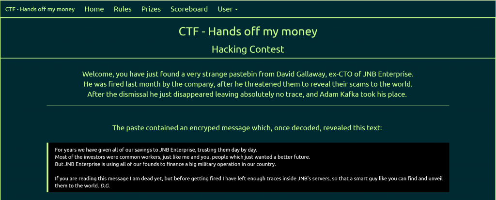 CTF – Hands off my money